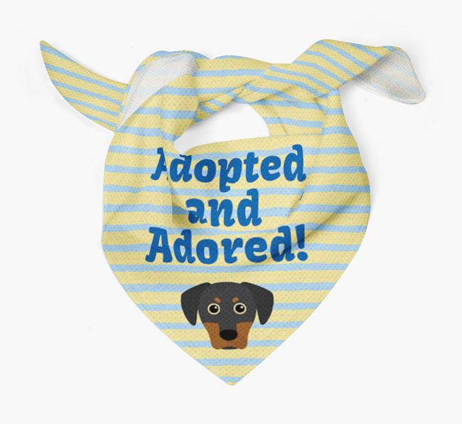 'Adopted and Adored' - Personalised Blue Lacy Bandana