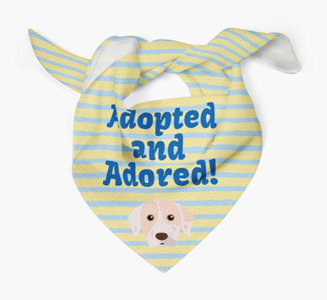 'Adopted and Adored' - Personalised Catahoula Leopard Dog Bandana