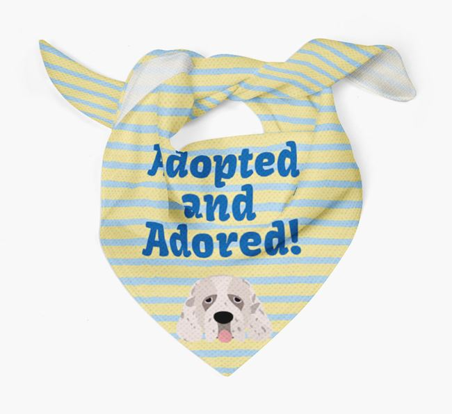 'Adopted and Adored' - Personalised Clumber Spaniel Bandana
