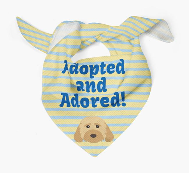 'Adopted and Adored' - Personalized Dog Bandana