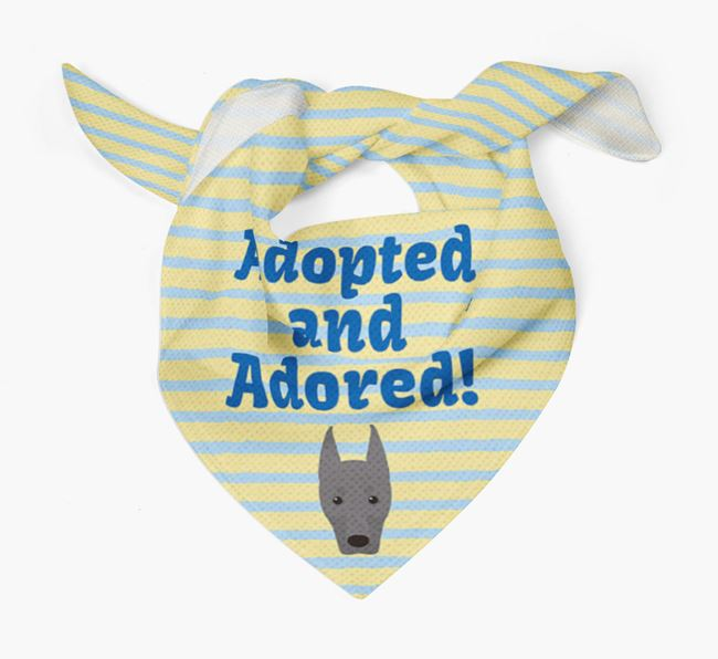 'Adopted and Adored' - Personalised Dobermann Bandana