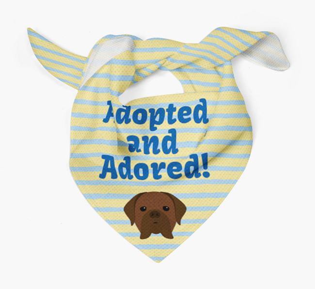 'Adopted and Adored' - Personalised Dogue de Bordeaux Bandana