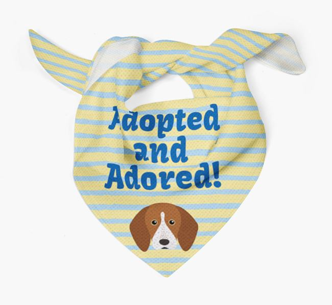 'Adopted and Adored' - Personalised English Coonhound Bandana