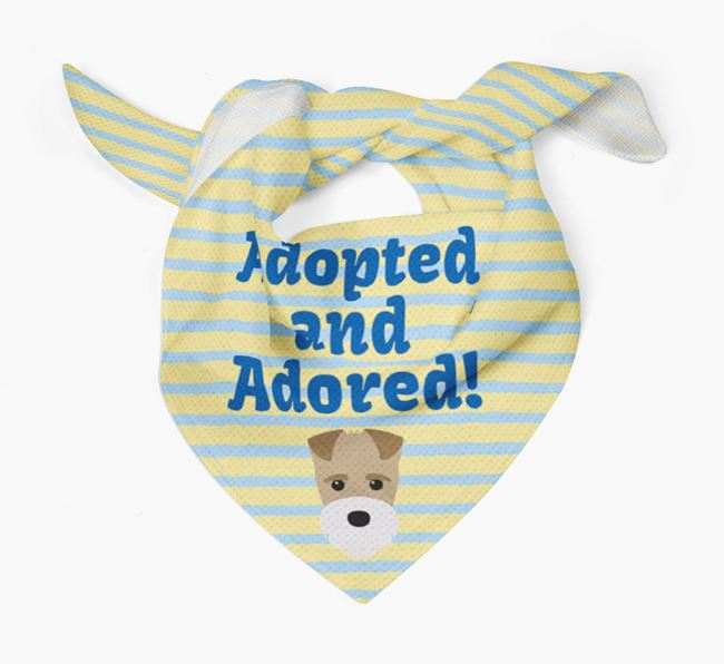 'Adopted and Adored' - Personalised Fox Terrier Bandana
