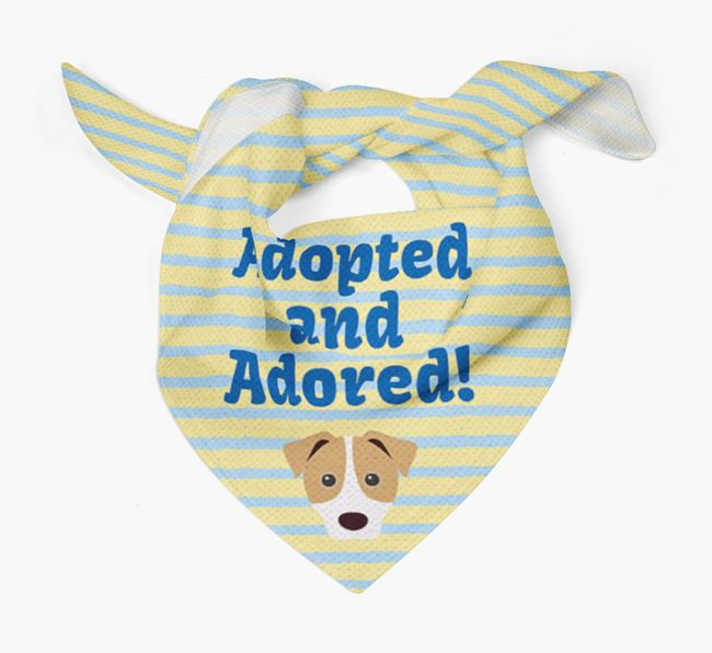 'Adopted and Adored' - Personalised Jack Russell Terrier Bandana