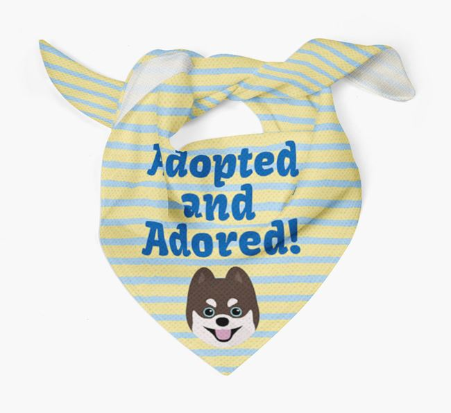 'Adopted and Adored' - Personalised Pomsky Bandana