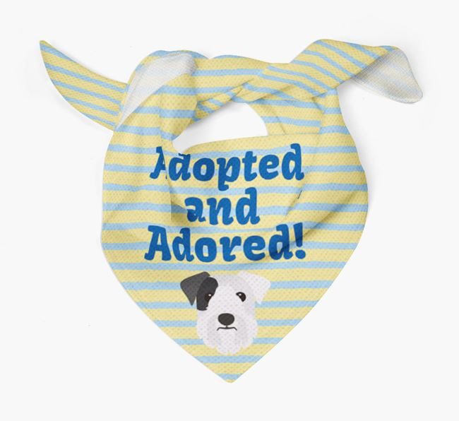 'Adopted and Adored' - Personalised Sealyham Terrier Bandana
