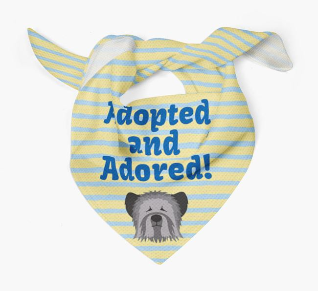 'Adopted and Adored' - Personalised Skye Terrier Bandana