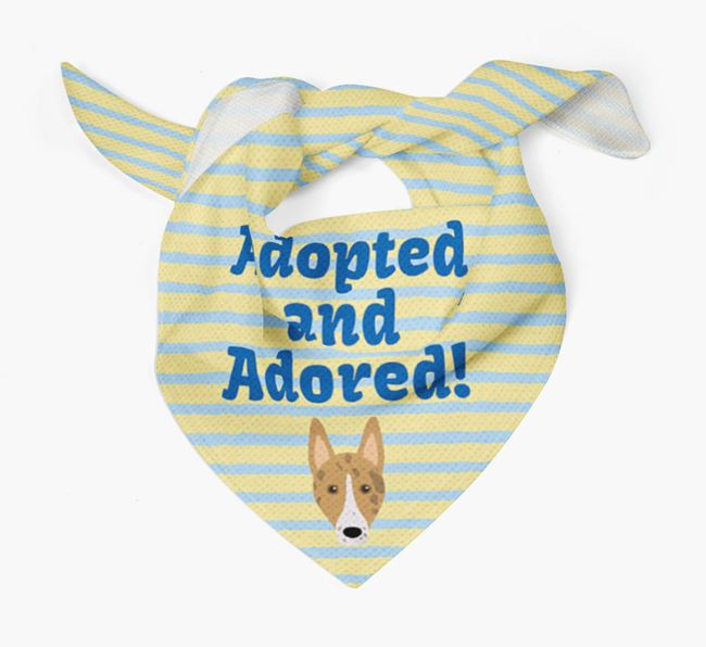 'Adopted and Adored' - Personalised Smooth Collie Bandana