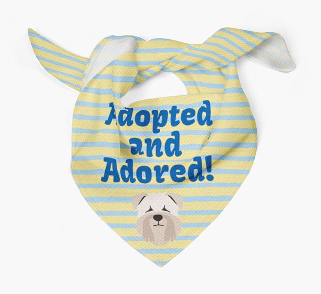 'Adopted and Adored' - Personalised Soft Coated Wheaten Terrier Bandana