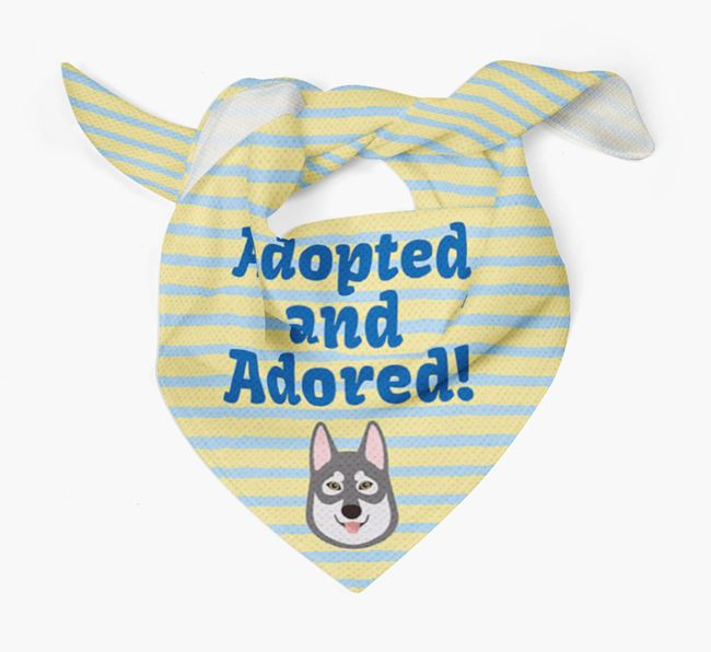 'Adopted and Adored' - Personalised Tamaskan Bandana