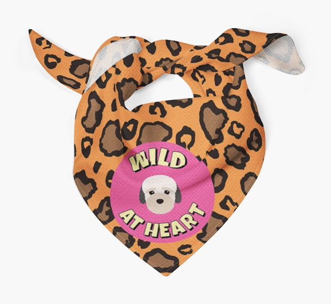'Wild At Heart' - Personalised Bich-poo Bandana
