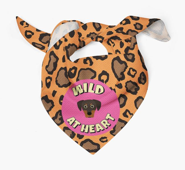 'Wild At Heart' - Personalised Blue Lacy Bandana