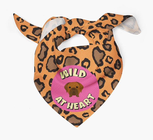 'Wild At Heart' - Personalised Dogue de Bordeaux Bandana