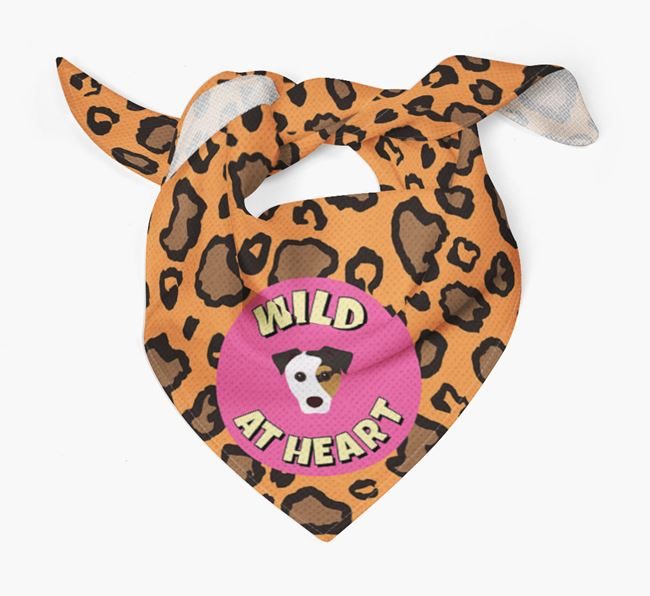 'Wild At Heart' - Personalised Jack Russell Terrier Bandana