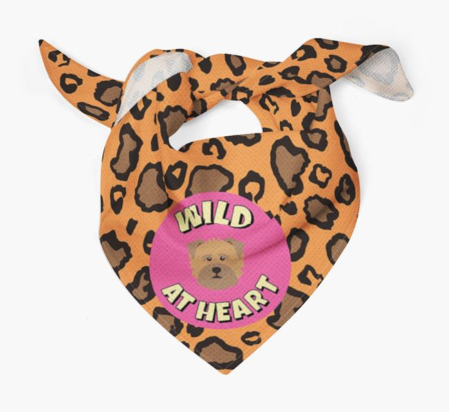 'Wild At Heart' - Personalised Norfolk Terrier Bandana