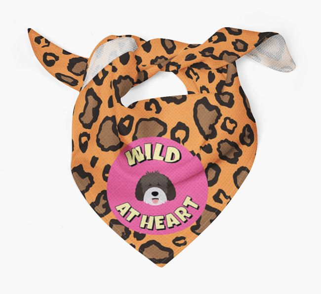 'Wild At Heart' - Personalised Spanish Water Dog Bandana