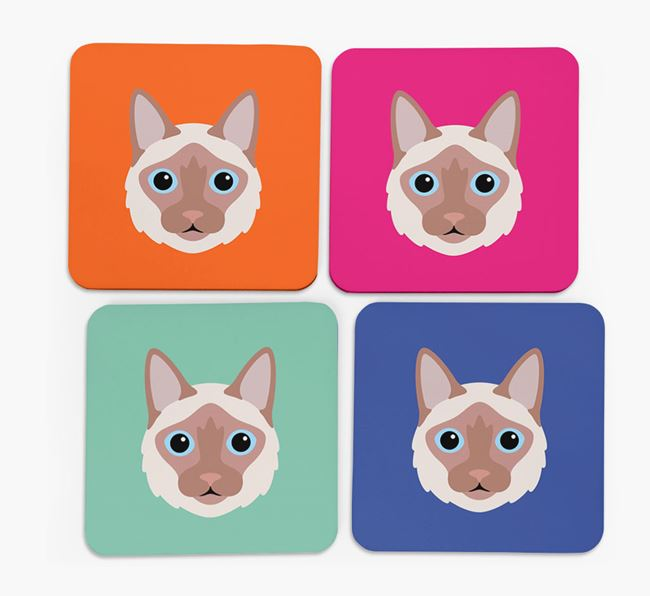 'Balinese Icon' - Personalized Coasters (Set of 4)