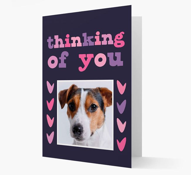 'Thinking of You' - Personalised Dog Photo Upload Card