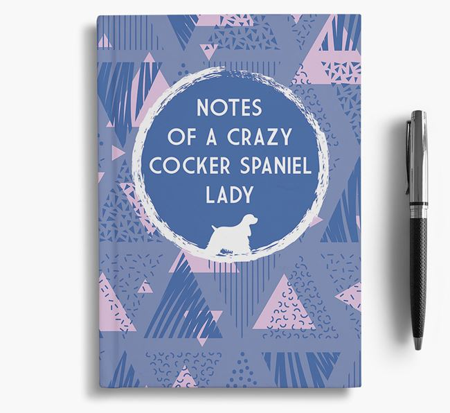 'Crazy Cocker Spaniel Lady' Notebook