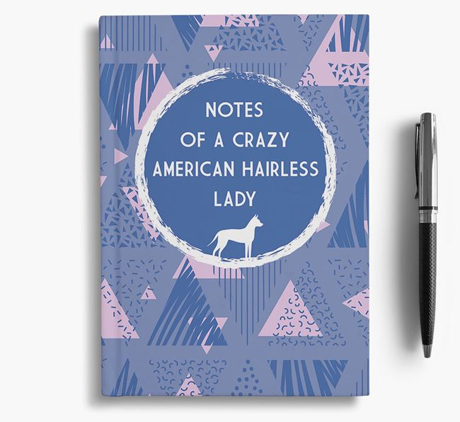 'Crazy American Hairless Lady' Notebook