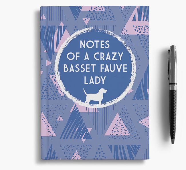 'Crazy Basset Fauve Lady' Notebook
