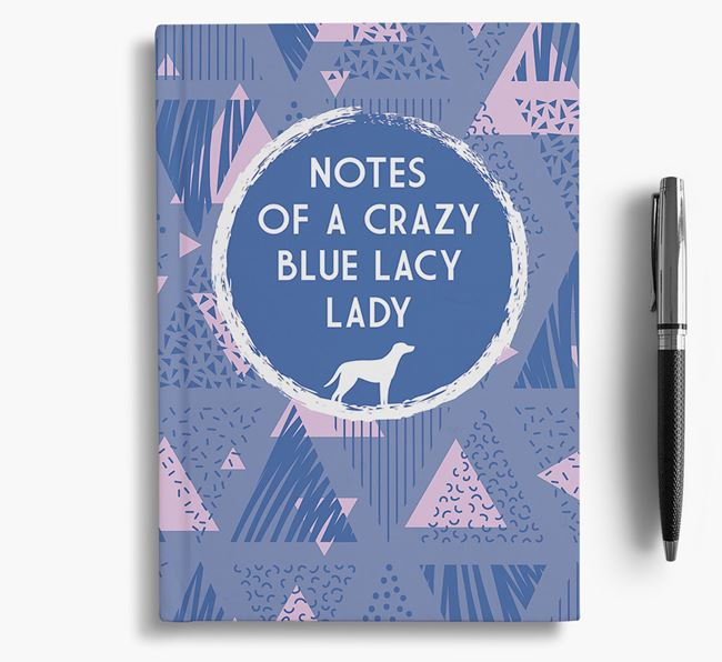 'Crazy Blue Lacy Lady' Notebook