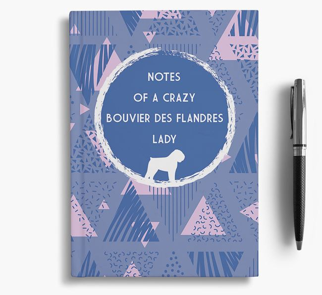 'Crazy Bouvier Des Flandres Lady' Notebook