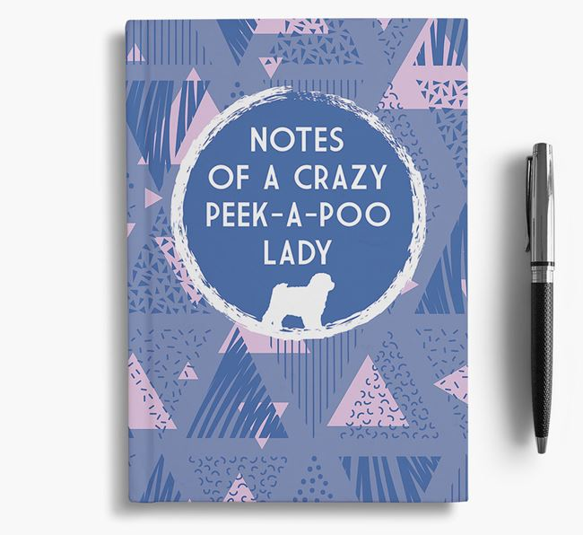 'Crazy Peek-a-poo Lady' Notebook