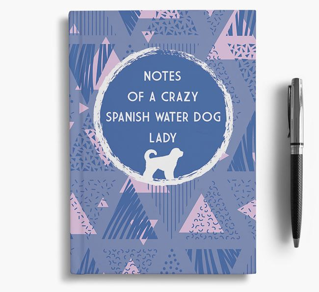 'Crazy Spanish Water Dog Lady' Notebook