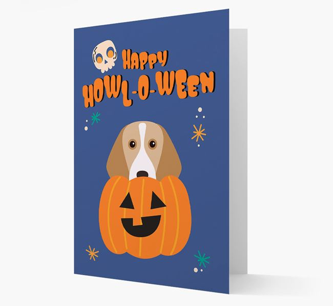 'Happy Halloween' - Card with Beagle Icon