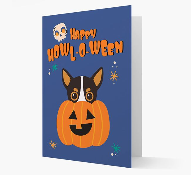 'Happy Halloween' - Card with Chihuahua Icon