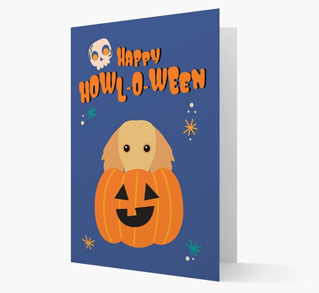 'Happy Halloween' - Card with Dachshund Icon