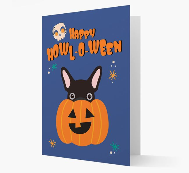 'Happy Halloween' - Card with French Bulldog Icon