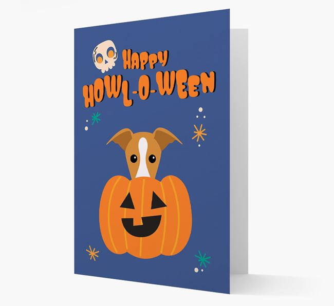 'Happy Halloween' - Card with Greyhound Icon