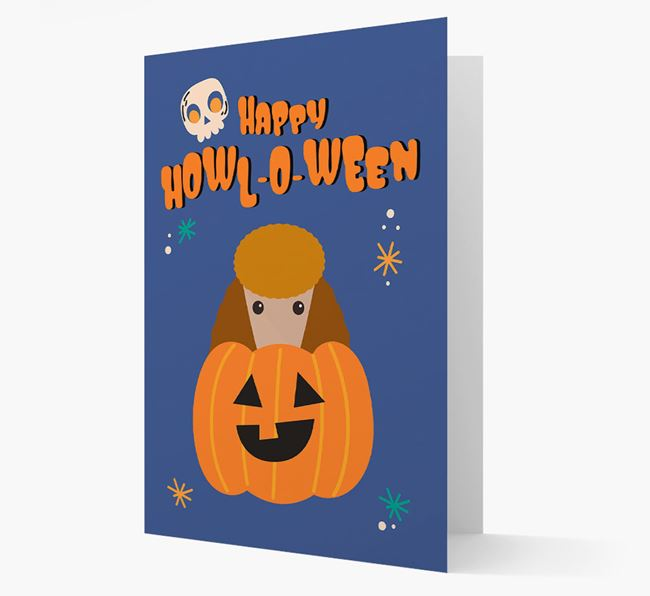 'Happy Halloween' - Card with Poodle Icon