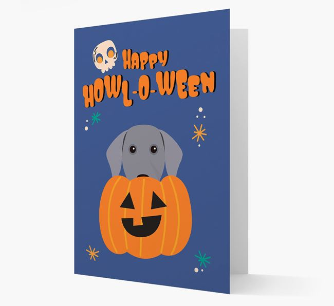 'Happy Halloween' - Card with Dog Icon