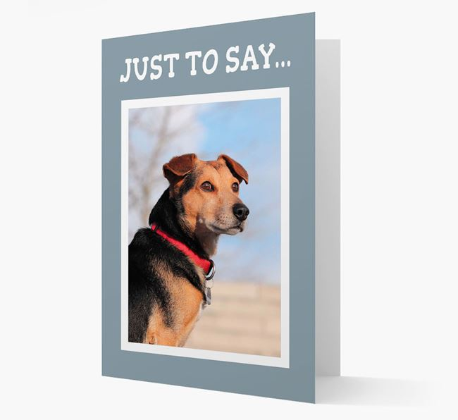 'Just to Say' Bearded Collie Photo Upload Card