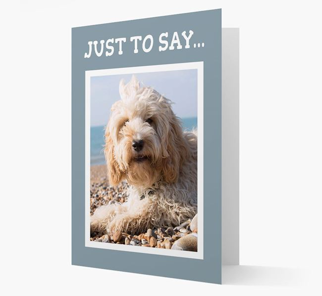 'Just to Say' Cockapoo Photo Upload Card