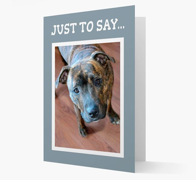 'Just to Say' Dog Photo Upload Card