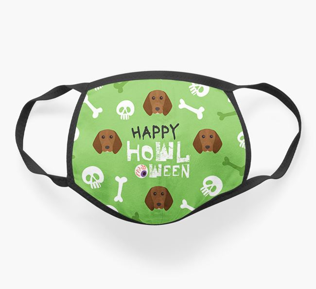 'Happy Howloween' - Personalised Beagle Face Mask