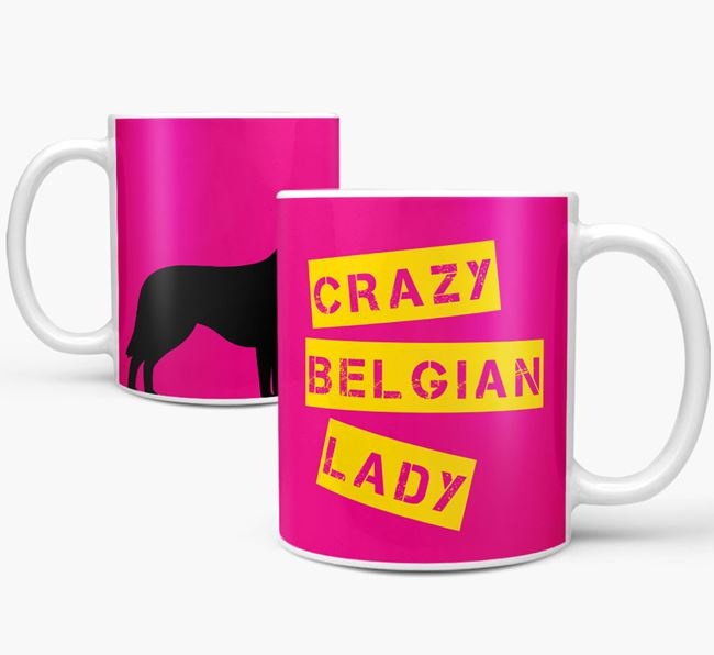 'Crazy Belgian Lady' Mug