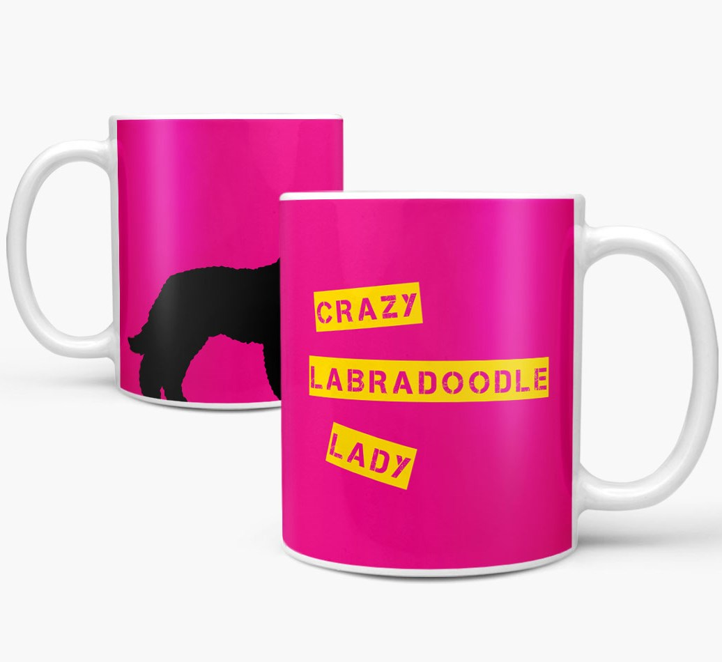Labradoodle {colour}'Crazy Labradoodle Lady' Mug both views