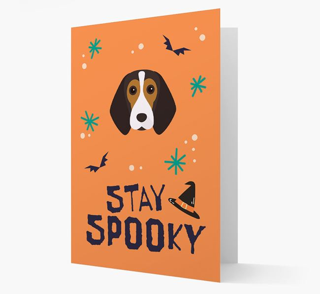 'Stay Spooky' - Personalised Card with Beagle Icon