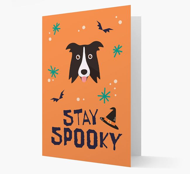 'Stay Spooky' - Personalized Card with Dog Icon