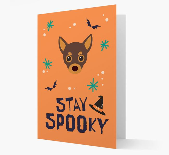 'Stay Spooky' - Personalized Card with Chihuahua Icon