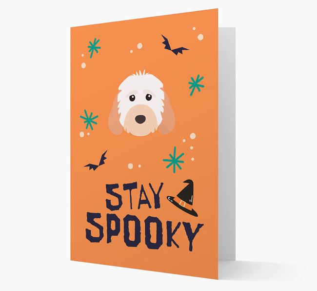 'Stay Spooky' - Personalized Card with Cockapoo Icon