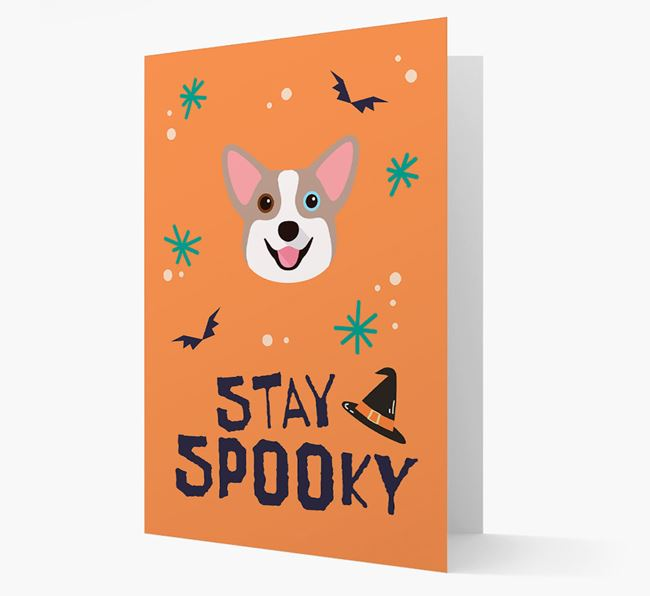 'Stay Spooky' - Personalized Card with Corgi Icon
