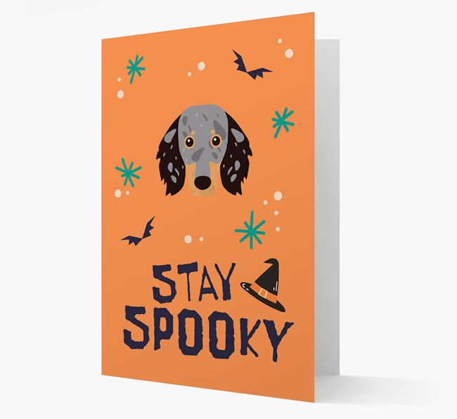 'Stay Spooky' - Personalized Card with Dachshund Icon