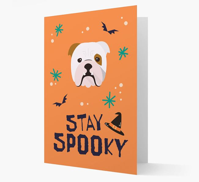 'Stay Spooky' - Personalized Card with English Bulldog Icon